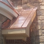 Copper turret with radius gutter